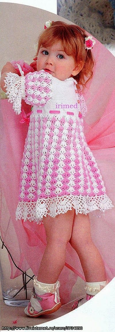 crochet dress - pattern is in Russian.  Oh well, who needs a pattern.