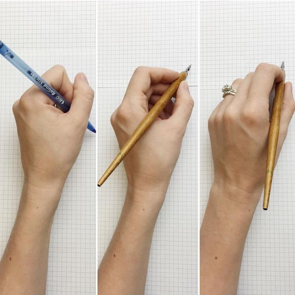 Tips for left handed calligraphers