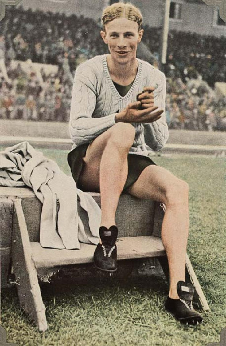 Jack Lovelock of New Zealand, winner of the 1500 metres in the 1936 Berlin Olympics