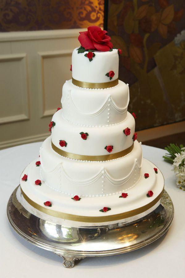 Красно белые свадебные торты - фото 5237621 Арт-кондитер Наталья Татаринова