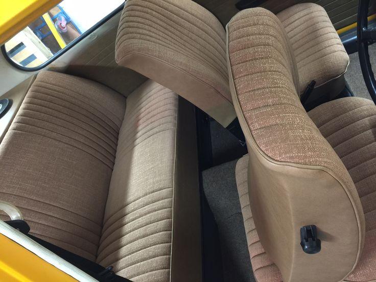 vw beetle 1330s photo of custom trimmed rear bench seat. Black Bedroom Furniture Sets. Home Design Ideas