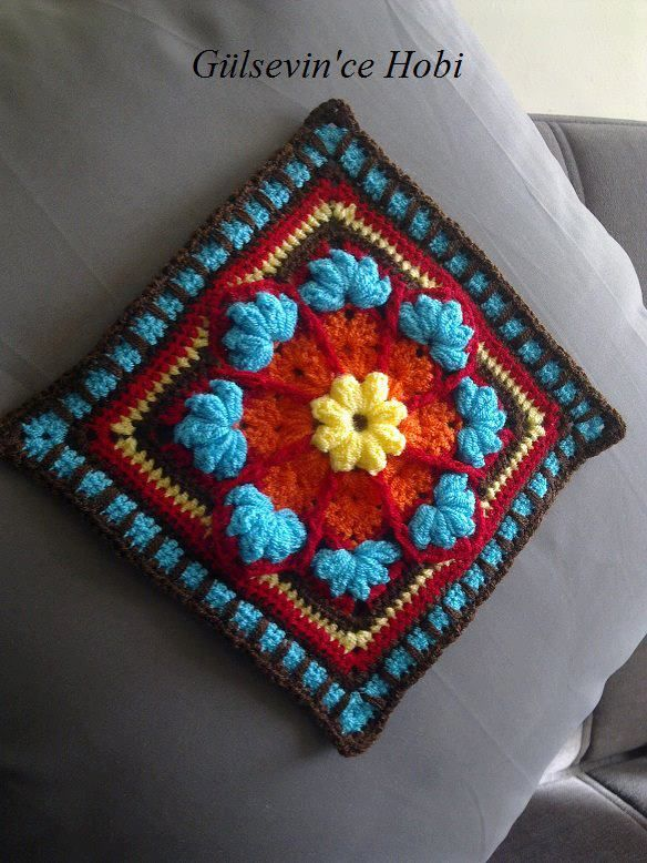Overlay or stain glass crochet square - How to, step by step <3 When explained like this, this is so doable!!!