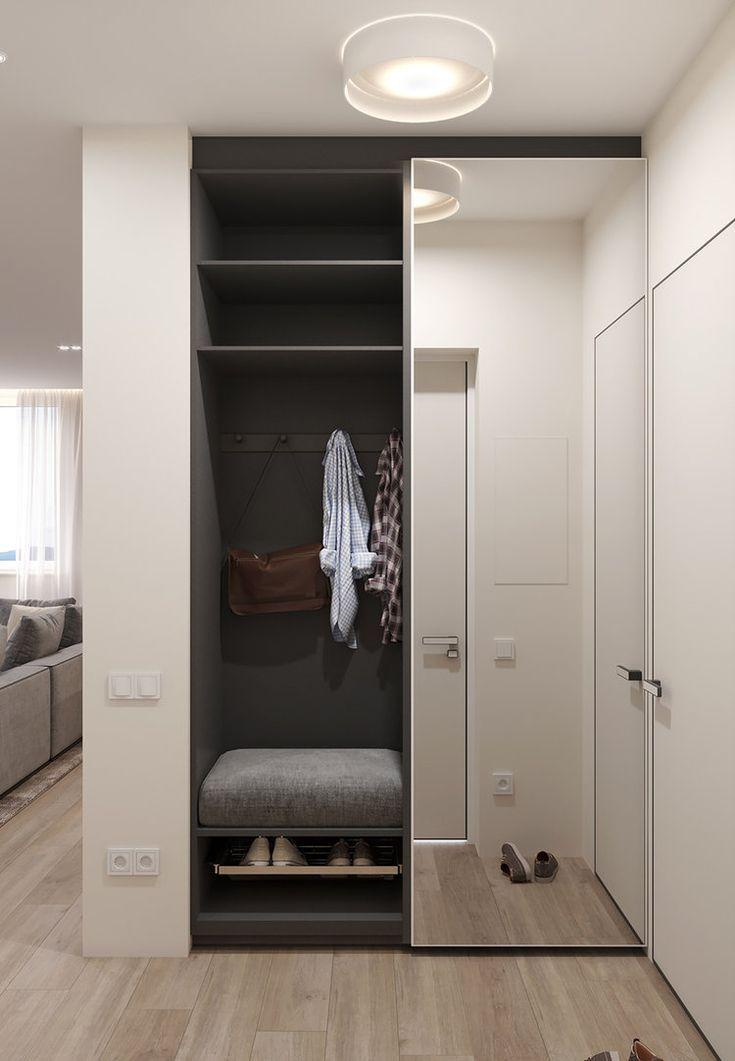 100m Apartment Architects Azari Modern Entrance Furniture