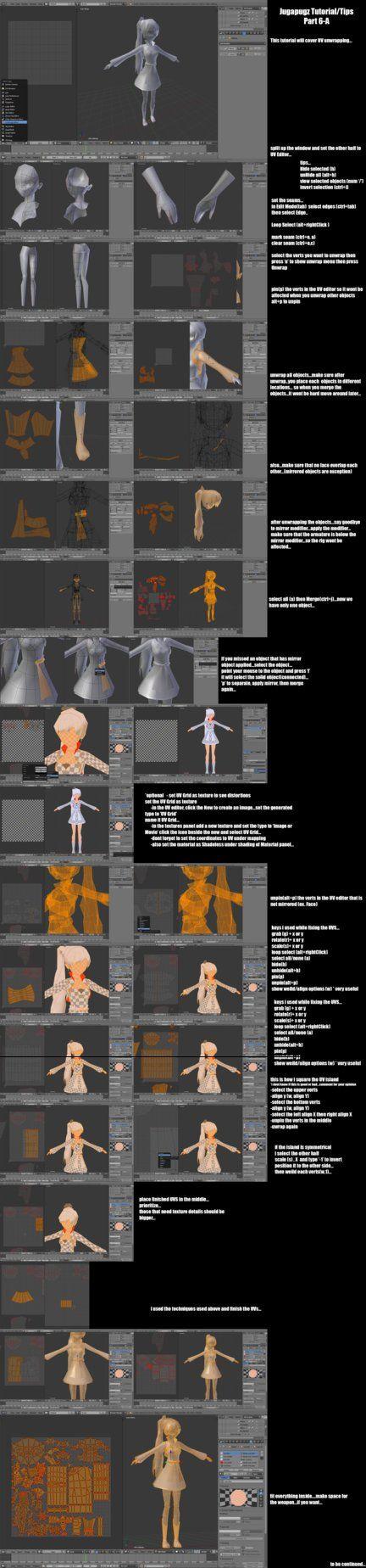 Jugapugz 3d lowpoly character Tutorial/Tip Part 6A by jugapugz.deviantart.com on @DeviantArt