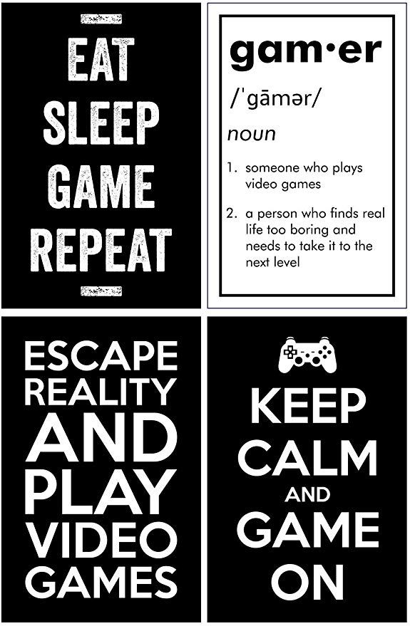 Amazon Com Gaming Posters Set Of 4 11x17 Inches Video Game