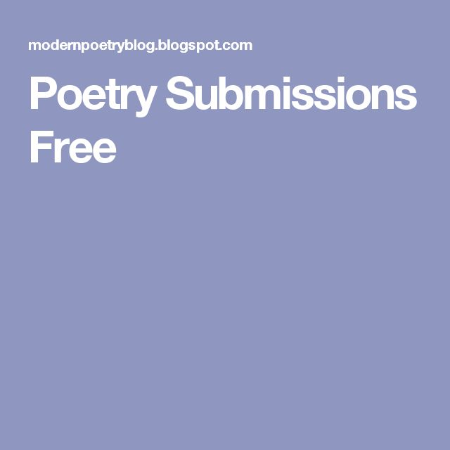 Poetry Submissions Free