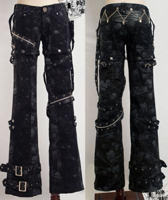 I found 'New sexy visual kei PUNK gothic rock removalbe pants' on Wish, check it out!