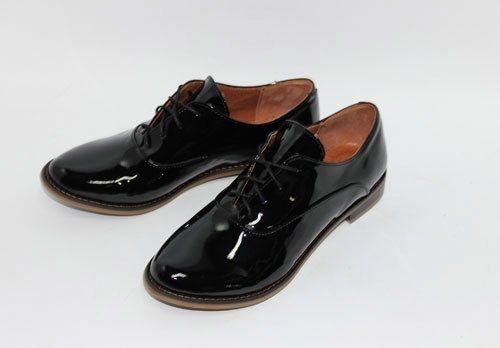 """Черные лаковые туфли """"оксфорды"""""""