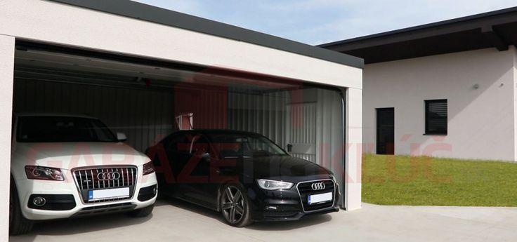 Montovaná dizajnová dvojgaráž na kľúč aj pre luxusné vozidlá.