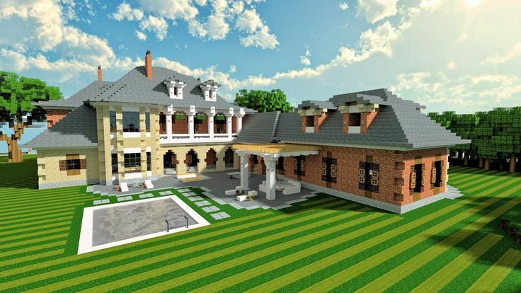 Plantation Mansion | http://www.minecraft-projects.com/2014/06/plantation-mansion.html  #minecraft #mansion #games