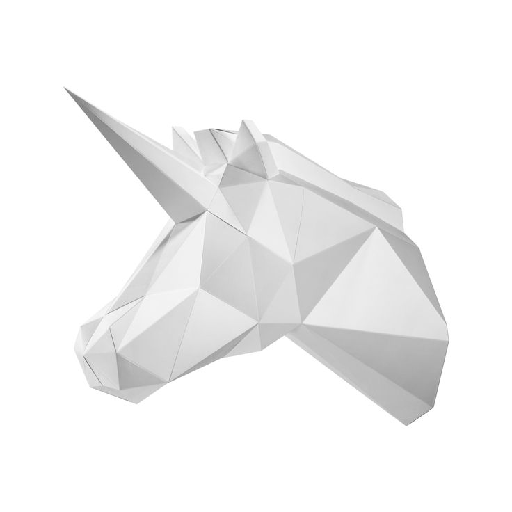 PAPA Play art Polygon art Unicorn Innocent White