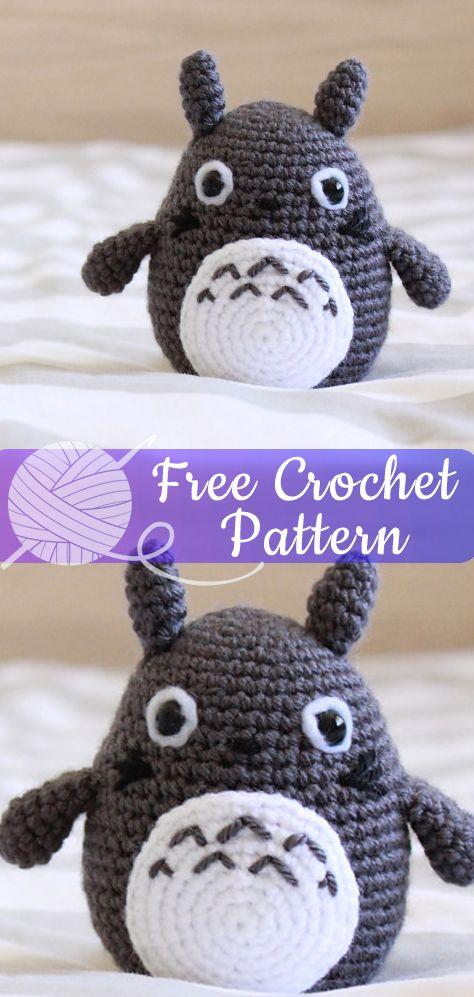 Totoro Amigurumi [CROCHET FREE PATTERNS] – All About Crochet