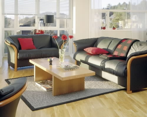 Leather Sofa Manhattan By Ekornes : Denmark Interiors In Fort Myers And  Naples, Florida : Contemporary Modern Furniture