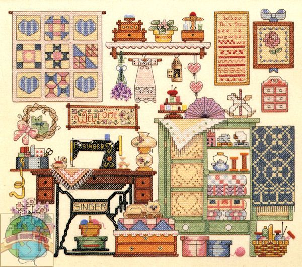 Vintage Dimensions unicorn Needlepoint Kits | Sunset / Dimensions - Cozy Sewing Room - Cross Stitch World
