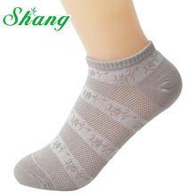 Bamboo water shang mujeres hermosas zapatillas de fibra de bambú para las mujeres lindas de algodón transpirable calcetines femeninos grano oscuro lq-5(China (Mainland))