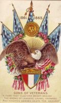 Free vintage post cards for Memorial Day: American flags and American eagle