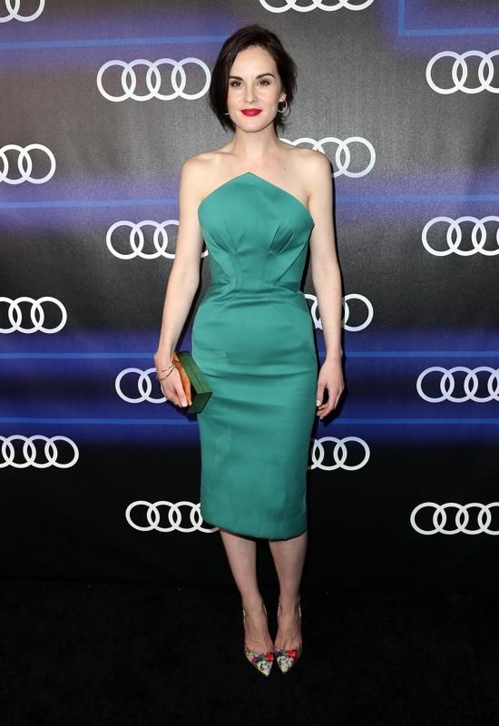 Downton Abbey's Michelle Dockery at a pre-Emmy party.