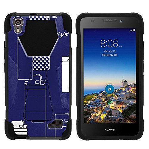 Buy Huawei SnapTo Phone Case, Armor Cover SHOCK Impact Built In Kickstand Case with Customized Designs for Huawei Pronto LTE H891L, SnapTo G620 (Straight Talk) by MINITURTLE - Blue Lighters NEW for 10.99 USD | Reusell