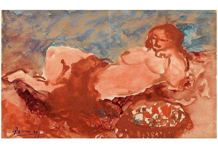 Pablo Picasso (1881-1973) Nu couché, 1906