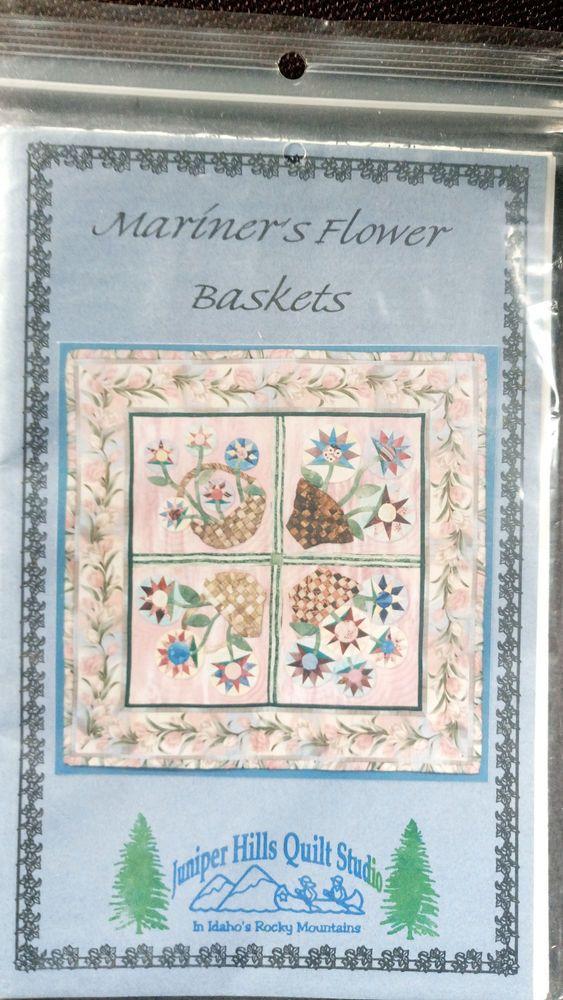 Mariner's Flower Baskets Quilt pattern Juniper Hills applique #JuniperHills
