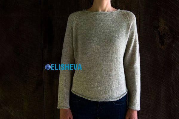 Женский пуловер реглан спицами с описанием от Лоры Лэйп   Блог elisheva.ru