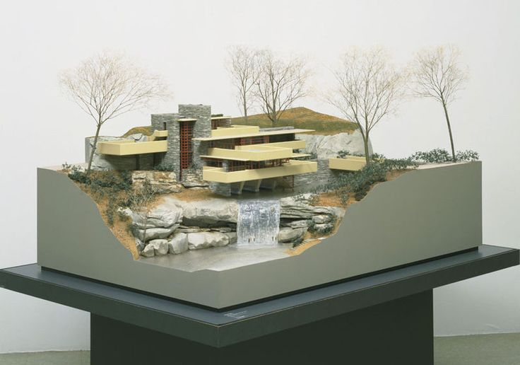 Modern Architecture Frank Lloyd Wright frank lloyd wright (1867-1959) - fallingwater model. edgar j