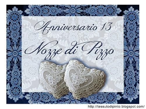 Matrimonio Auguri Anniversario : Cartoncino auguri anni di matrimonio nozze pizzo