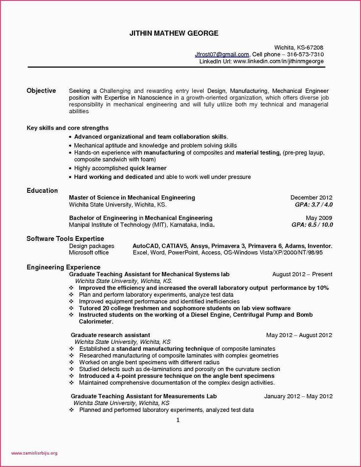 Engineering Skills for Resume Beautiful Model Resume