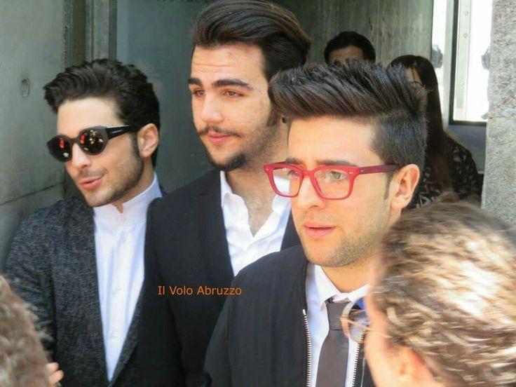 At the Armani fashion show