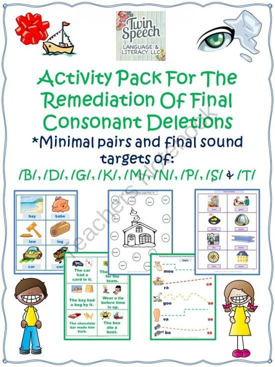 Phonological Disorders: Remediation Of Final Consonant Deletions Mega Unit: It's 10/25/2014 and we have a big announcement! Please re-download this unit if you have previously purchased it. That is because it has received a total makeover!