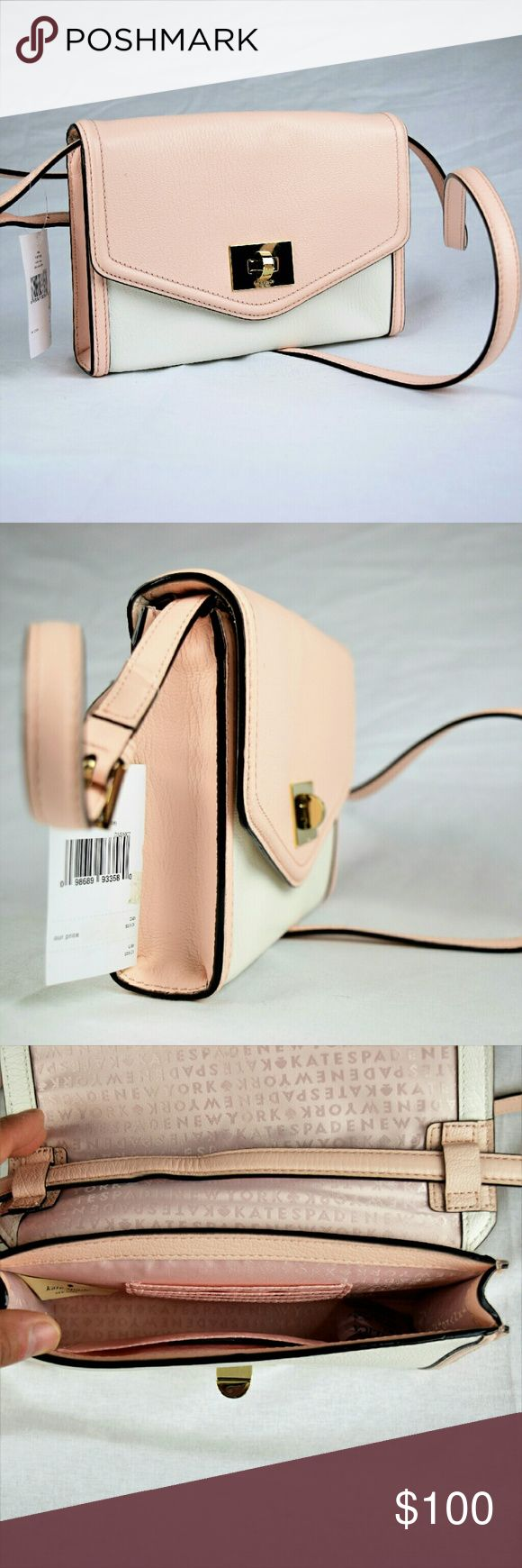 Kate Spade Nikki Cream shoulder Bag Brand new with Tag.Guaranteed Authentic.Can also use as Crossbody purse Kate Spade Bags Shoulder Bags