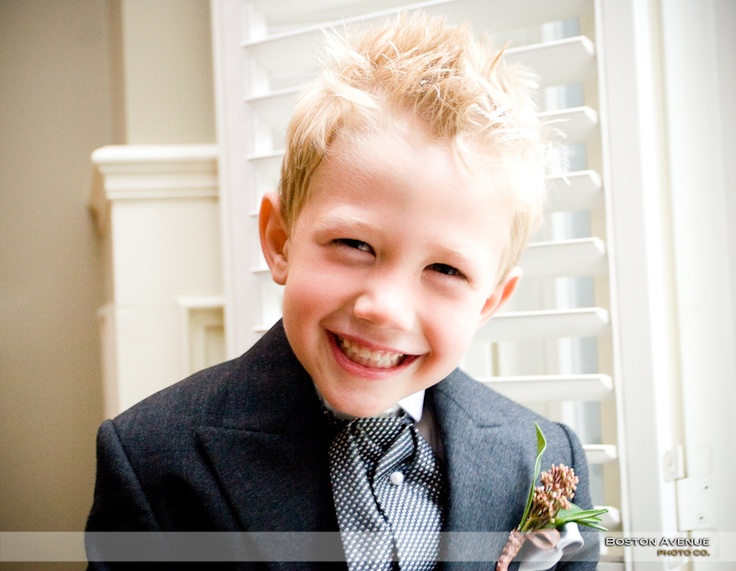 what a handsome little ring bearer! so cute :)