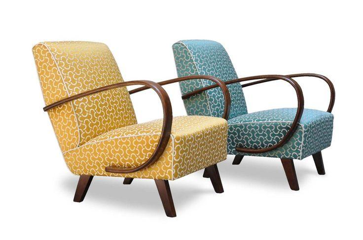 Poltrone anni '30 Art Deco in faggio curvato - Italian Vintage Sofa