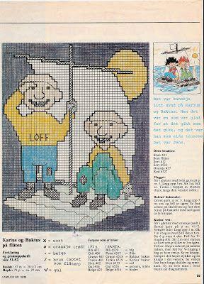 karius og baktus | Her er mønster på gensere fra 1988. Dei er alltid like populære.