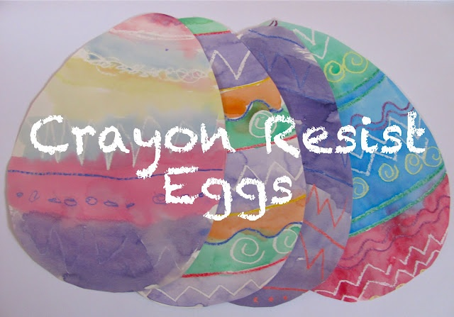 Crayon Resist Easter Eggs  Crayons + Watercolors = Magic
