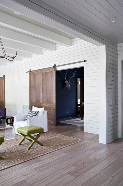 Track and rail door | Creating Beautiful Spaces on a Tight Budget | Danielle Oakey Interiors