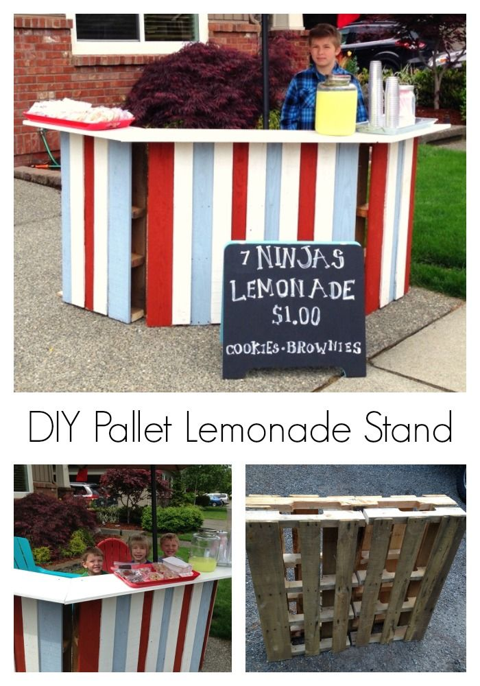 diy pallet lemonade stand lemonade stands lemonade and