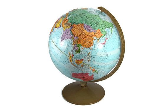 vintage Replogle World Nation Series globe, circa 1991