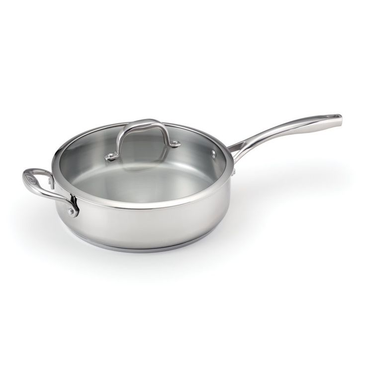 Guy Fieri 5-qt Deep Stainless Steel Saute Pan with Lid >>> Visit the image link more details.
