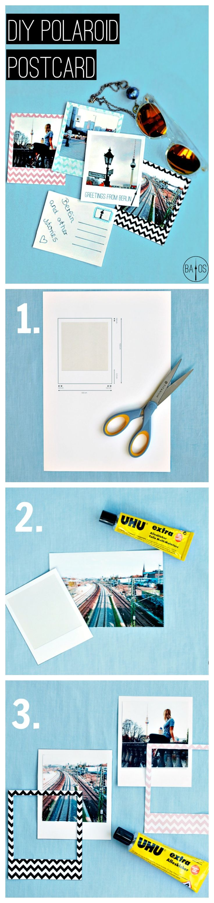 Check out our DIY Polaroid Postcards tutorial with FREE printable…