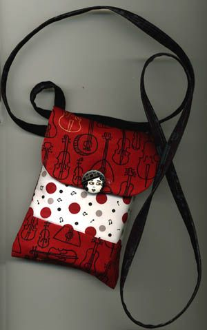 Cell phone pouch necklace