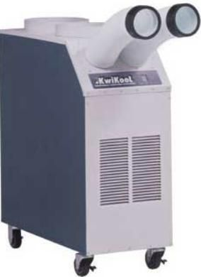 KwiKool KPAC1411 Commercial Portable Air Conditioner, 13,700 BTU, microprocessor thermostatic control, Easy Touch control panel. Hermetic rotary compressor, 345 CFM evaporator air flow with 1 fan speed, 1000 Cfm Air Flow, 1.3 Kw Power Consumption, Internal Compressor Overload, Internal Automatic Fan Motor Overload.(KPAC-1411 KPAC 1411)