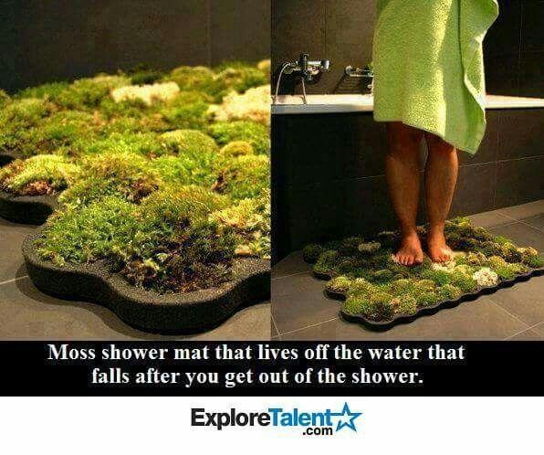 Moss shower mat i really must do this bathroom for Natural moss bath mat