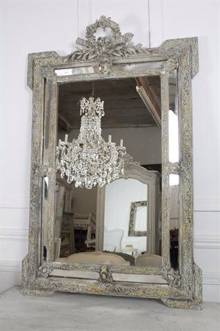 Antique French Wreath and Roses Mirror by FullBloomCottage on Etsy, $1595.00