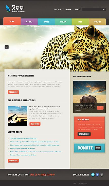 Zoo Wildland Joomla Templates by Astra