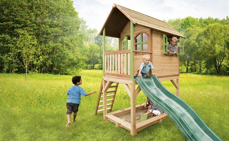 Kinderspielhaus Holz Stelzen ~ Kinder Spielhaus Axi SARAH Kinderspielhaus Holz Stelzen, Rutsche AXI