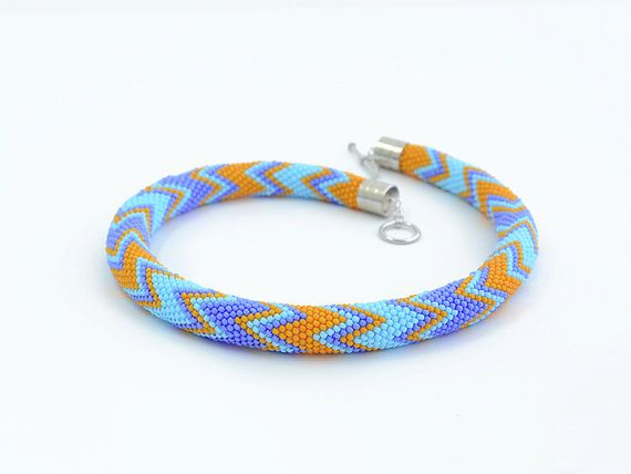 "Bead Crochet Necklace ""Euphoria"""