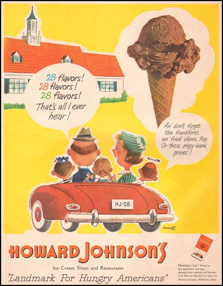Howard Johnsons Restaurants Vintage Ads