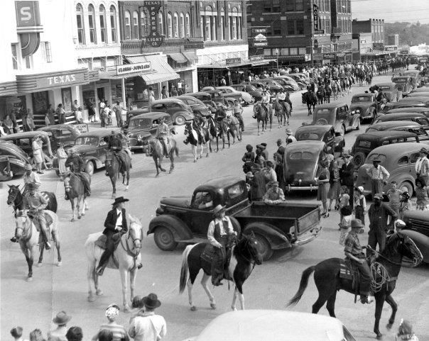 Downtown Waxahachie,Texas.1930's or   1940's
