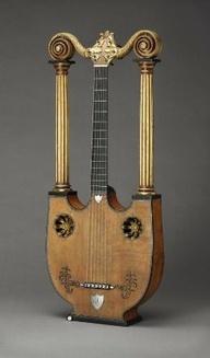 Joseph Pons's Lyre guitar, 1810. Museum of Fine Arts, Boston.